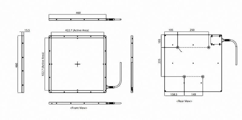 Detektor meX 1717SCC CsI digitales Röntgen Flatpanel