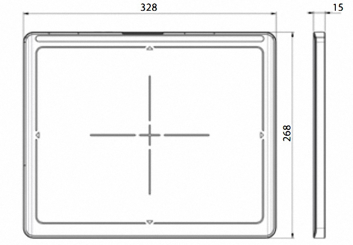 Detektor meX+1012WCC CsI digitales Röntgen Flatpanel