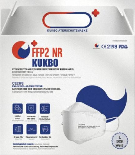 FFP2 Atemschutzmaske (PSA) nach EN 149:2001 + A1:2009 nach FFP2 (gem. EU-Verordnung 2016/425 für persönliche Schutzausrüstung)