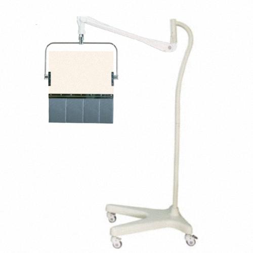 Transparente Strahlenschutz-Scheibe mit flexiblen Vorhang am Strahlenschutzschild, Röntgen-Strahlenschutzschild  PTO-004