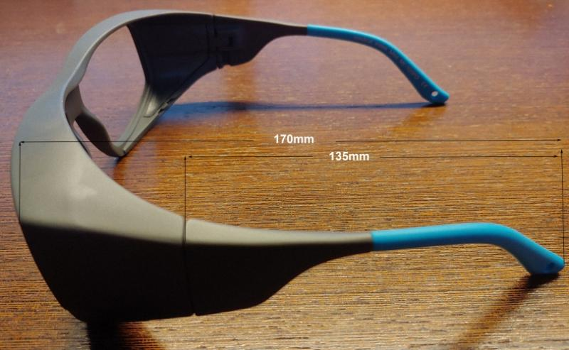 Röntgenschutzbrille Überbrille MI-100FO Fitover Strahlenschutz Augenschutz