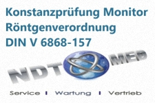 Konstanzprüfung Bildschirm Röntgenverordnung DIN V 6868-157