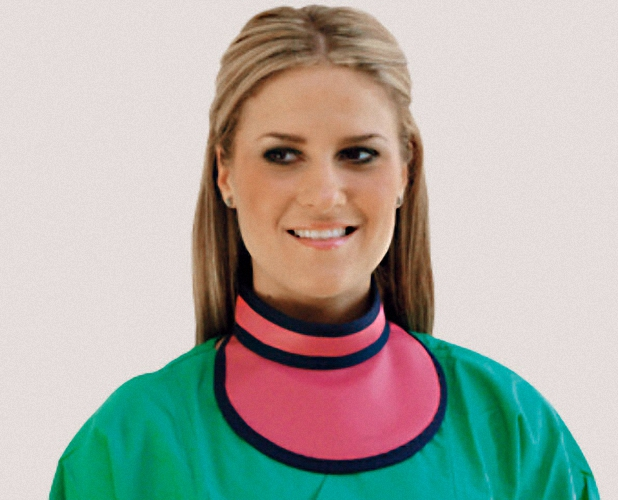 Schilddrüsenschutz Modell SL SD SupraSoft Thyreoidschutz Sternumschutz Strahlenschutzkleidung Röntgenkragen