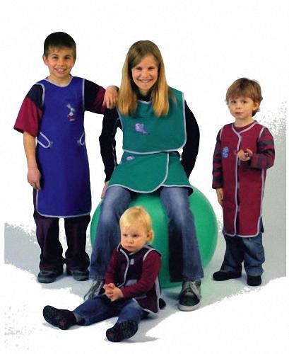 487 Kinder Top od Weste Nylon Strahlenschutzkleidung