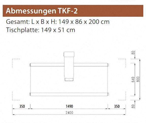 TKF 2Veterinär Röntgentisch Röntgengerät für Kleintiere