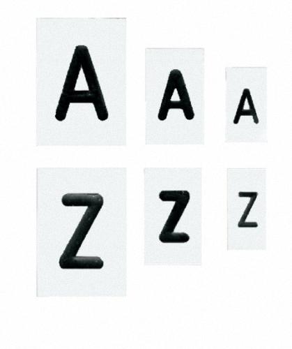Buchstabenschablonen