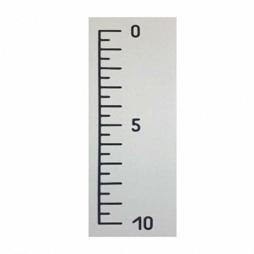Röntgenlineal 5 mm SchrittWolfram Röntgenfilmmarkierungen