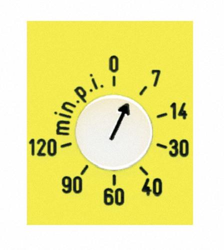 Röntgenuhr 0 bis 120 min mit Zusatz min p i