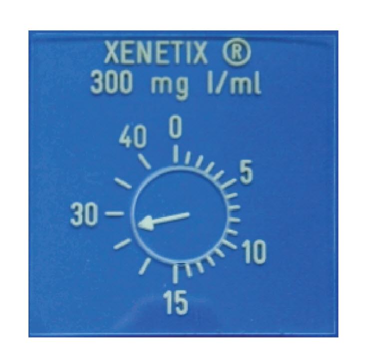 Röntgenuhr 0 bis 40 min