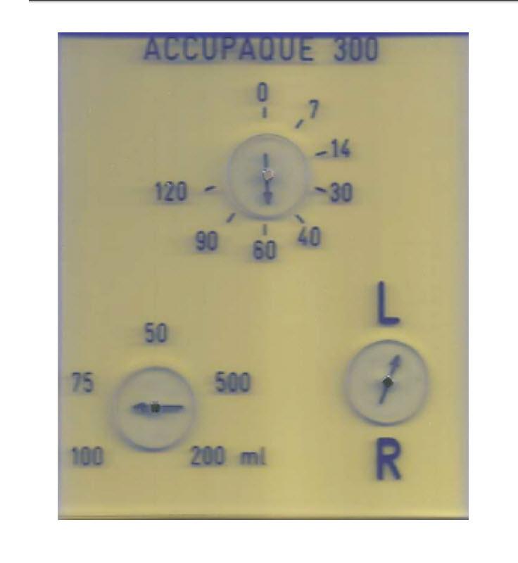Röntgenuhr 0 bis 120 min.mit Zusatz