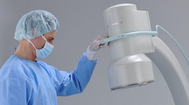 Shimadzu Opescope ACTENO mobiler C Bogen mit Bildverstärker Bildwandler mobiles Röntgengerät Bildgebung Mobile C-Bogen-Systeme Röntgen-Systeme