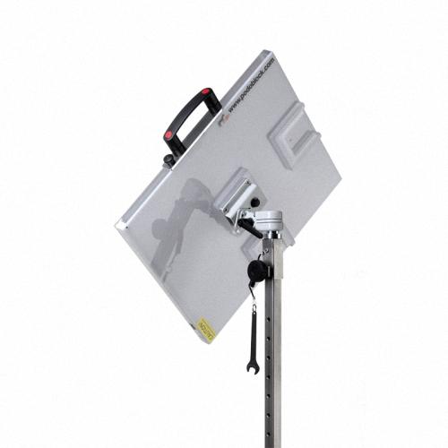 Denfinityleichter tragbarer und zusammenklappbarer Edelstahlständer für freihändige und hochwertige Schädel Röntgenbilder