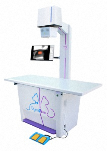 Veterinär Röntgen DynaVue Fluoroskopie u. digitales Röntgen System für Tierärzte - Tiermedizin Röntgengerät für Kleintiere